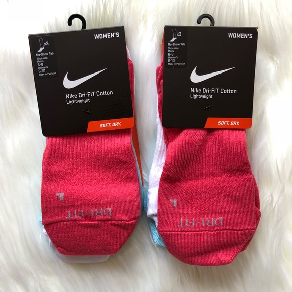 detailed look 3be85 dacde Nike Dri-fit Cotton Lightweight No-Show Tab Socks